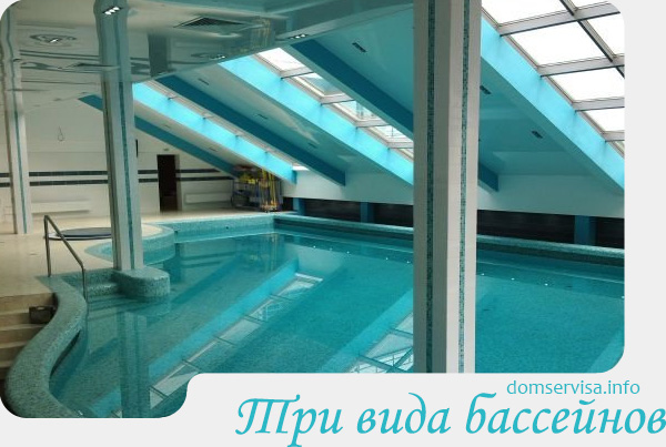 Три вида бассейнов